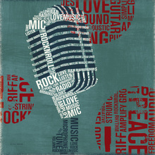 Canvas print - Type Mic Square