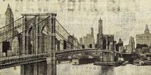 Canvas-taulu - Vintage New York Brooklyn Bridge