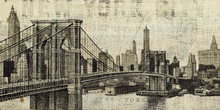 Wall mural - Vintage New York Brooklyn Bridge