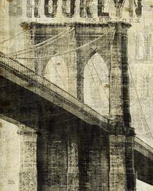 Valokuvatapetti - Vintage New York Brooklyn Bridge