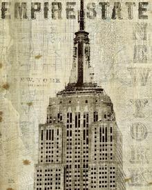 Canvas-taulu - Vintage New York Empire State