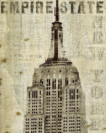 Leinwandbild - Vintage New York Empire State