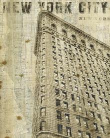 Canvas-taulu - Vintage New York Flat Iron