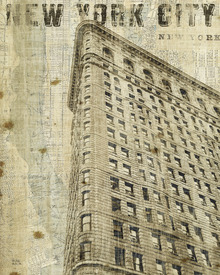 Canvas print - Vintage New York Flat Iron