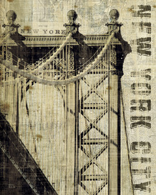 Canvas print - Vintage New York Manhattan Bridge