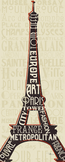Canvas print - Paris City Words I