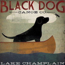 Canvastavla - Black Dog Lake Champlain