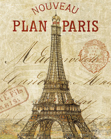 Canvas-taulu - Letter from Paris