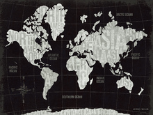 Canvas print - Modern World - Black
