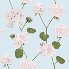 Wallpaper - Geranium - Blue