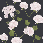 Wallpaper - Geranium - Black