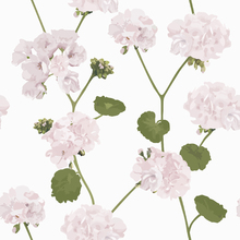 Behang - Geranium - white