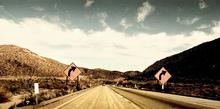 Fototapet - Grainy Sunny Road