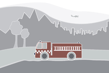 Canvas print - Fire Truck