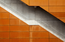 Wall mural - Orange Stairway