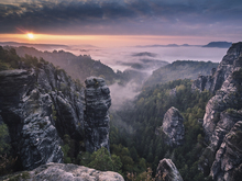 Wall mural - Sunrise on the Rocks