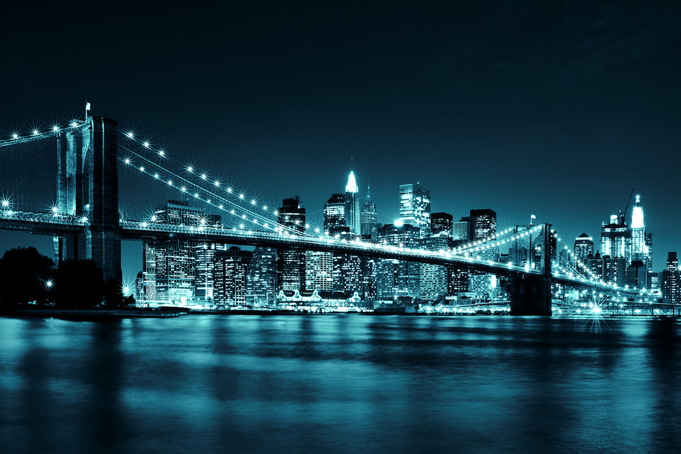 Brooklyn Bridge - Blue