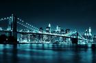 Fototapet - Brooklyn Bridge - Blue