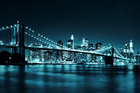 Valokuvatapetti - Brooklyn Bridge - Blue