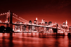 Canvas print - Brooklyn Bridge - Red