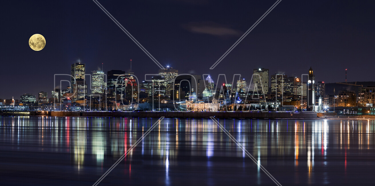 Montreal city lights wall mural photo wallpaper for City lights mural