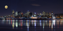 Lerretsbilde - Montreal City Lights