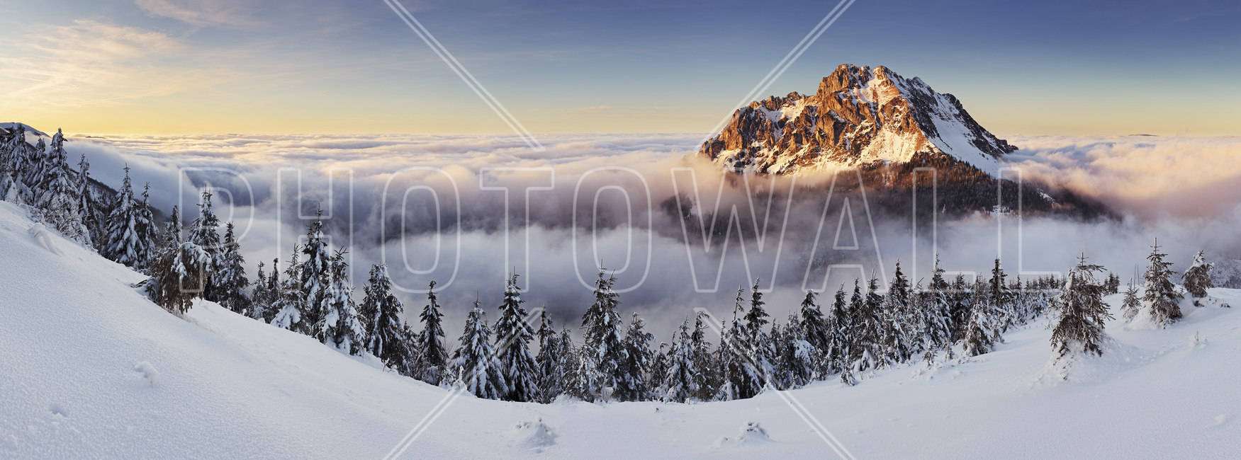 snowy mountain wall mural amp photo wallpaper photowall mountain morning huge wall mural art print poster