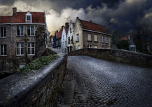 Wall mural - Bridge in Bruges