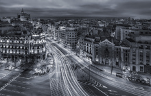 Fototapet - Madrid City Lights