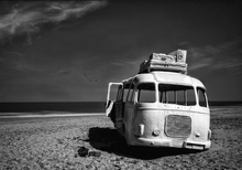 Canvas print - Beached Bus