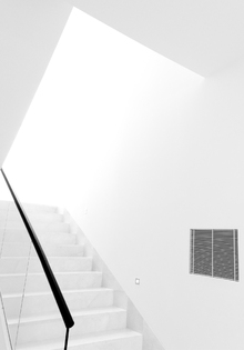 Wall mural - White Staircase
