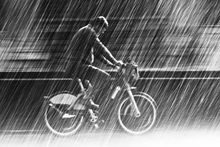 Canvas print - Bicycle in the Rain