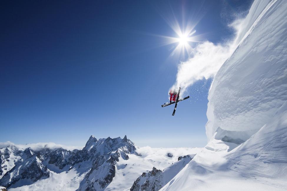 Extreme Skiing  Wall Mural u0026 Photo Wallpaper  Photowall