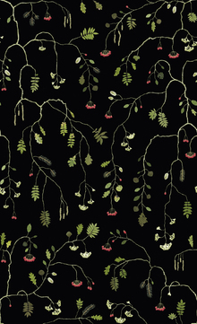 Wallpaper - Mountain Pine - Black