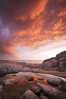 Wall mural - Fiery Clouds at Sea