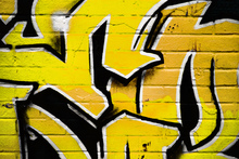 Canvas-taulu - Yellow Graffiti