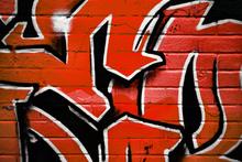 Canvas-taulu - Bright red Graffiti