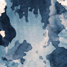 Fototapet - Fiber Abstract Watercolor - Blue