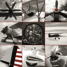 Canvas print - Aircraft Montage