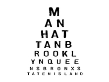 Wall mural - 5 Boroughs Eye Chart