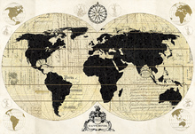 Leinwandbild - Vintage World Map