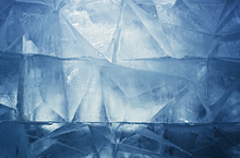 Canvas print - Blue Ice