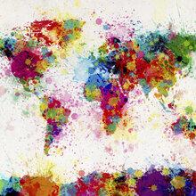 World map wallpaper wall murals photowall wall mural paint splashes map sciox Choice Image