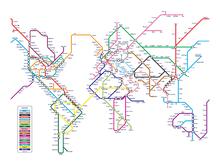 Canvas-taulu - Metro World Map