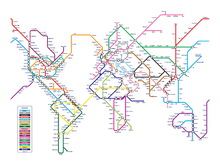 Wall mural - Metro World Map
