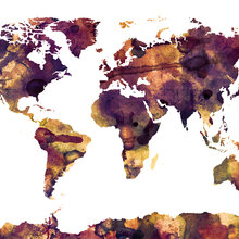 World map wallpaper wall murals photowall wall mural watercolor world map purple sciox Image collections