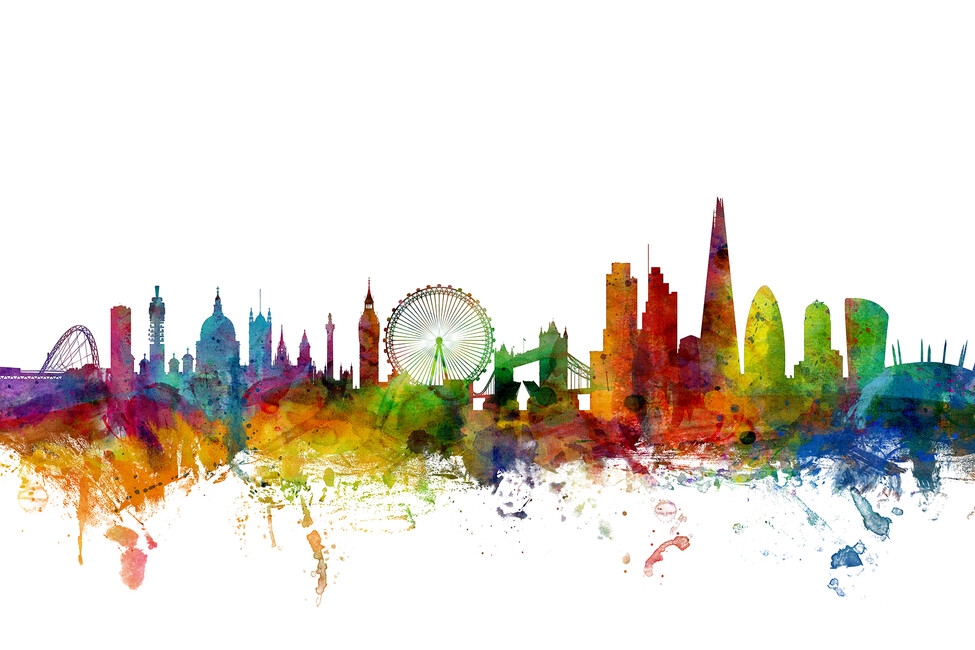 Line Drawing Wallpaper Uk : London skyline wall mural photo wallpaper photowall