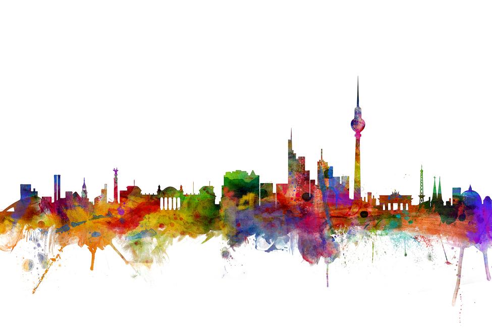 Berlin Skyline - Schilderijen op canvas