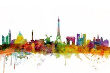Wall mural - Paris Skyline