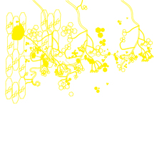Wall mural - Blooming Forest Yellow